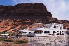 House boat on Lake Powell Utah