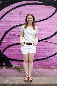 The White Denim Shorts   Something Good, summer, fashion, style, women's clothing, clothes, denim shorts, american eagle outfitters, sandals, white tee