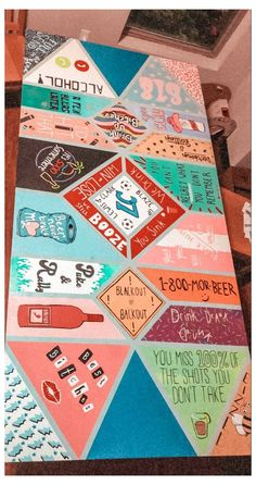 Custom Beer Pong Tables, Beer Table, Diy Table, Drinking Games For Parties, Jenga, Diy Painting, Cooler Painting, Diy Canvas Art, Ping Pong Table