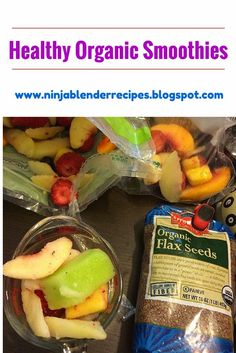 Healthy Organic Smoothie- Mixed Fruit Flax Seed Smoothie! Lose weight fast by replacing fatty, convenient breakfast options with healthy, all natural, organic breakfast smoothies. You will get more energy and feel better about life! #organic