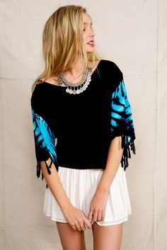 Urban Renewal Wide Open Places Fringe Cropped Top