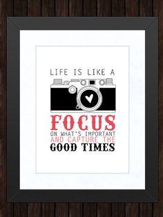 Inspiriational photography quote.