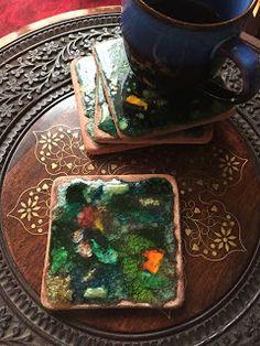 Mozaik Sanat Evi: Seramik  bardak altlıkları