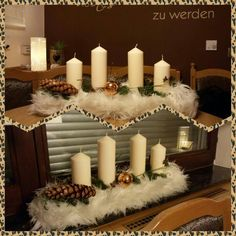 Candles, Table Decorations, Furniture, Home Decor, House, Homemade Home Decor, Home Furnishings, Decoration Home, Candle