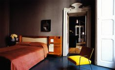 Gio Ponti bed in Emiliano Salci's Milan home: WOI April 2013
