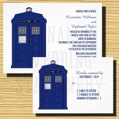 police box invite and rsvp