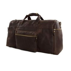 e07669247f ROCKCOW Vintage Genuine Leather Cowhide 23″ Large Capacity Travel Luggage  Men Duffle Bags 1098