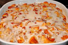 cinnamon roll casserole - will make a half batch...feeds a crowd...serve with a side of bacon