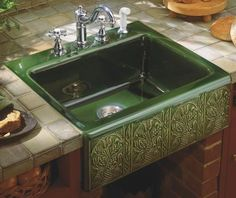 Image Detail for - ... Tile In Kitchen Sink with Four Hole Faucet Drilling, Earthen White