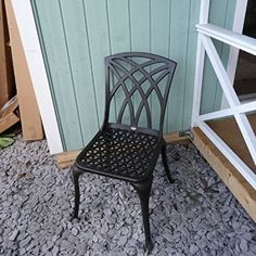 LUCY Set di mobili da giardino con tavolo quadrato 91cm e 4 sedie May in alluminio: Amazon.it: Casa e cucina