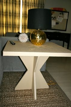Leather Covered Side Table/Tracy Gallagher Kerkorian Design