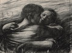 Couple of Love (1976) - Odd Nerdrum Drawings - The Nerdrum Institute - Sales, Research & Exhibitions of Odd Nerdrum Works