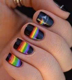 Pink Floyd nail art.