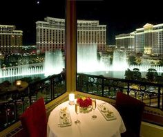 Viva Las Vegas I ate here on the deck at the Paris watching the fountains at the fountains...so romantic!