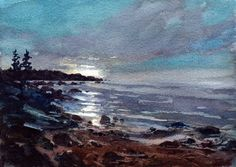 In the Light of The Full Moon by William Minchew on Etsy