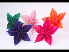 Easy origami flower instructions - How to make origami flowers carambola, My Crafts and DIY Projects