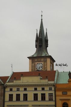 www.thetinybook.com rooftops and spires from Praha