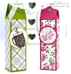Stampin' Up! Demonstrator Pootles - Tall Slender 2, 4, 6, 8 Box Tutorial