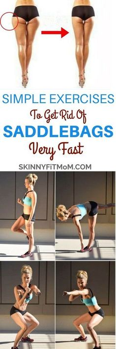 8 Simple Exercises to Get Rid Of Saddlebags for Women Saddlebags build up on sides of upper thighs and cause broadness of the pelvic region of women. Here are exercise to get rid of saddlebags for women. Body Fitness, Fitness Diet, Fitness Motivation, Health Fitness, Saddlebag Workout, Workout Bauch, Thigh Exercises, Stretches, Easy Workouts