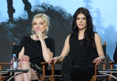 Eliza Taylor and Marie Avgeropoulos