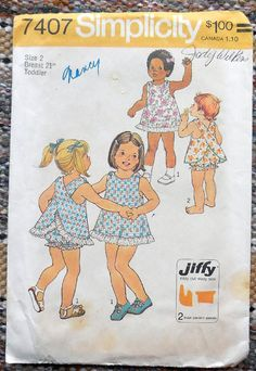 Simplicity 7407  Adorable & Easy Toddler Dress and by Clutterina