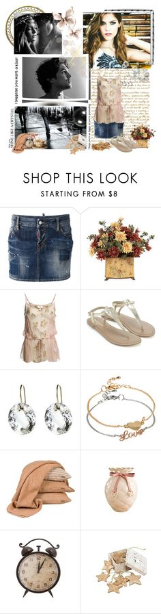"""""""Just a shot in the dark that you just might, Be the one I've been waiting for my whole life, So baby I'm alright, with just a kiss goodnight"""" by ninhayaritza ❤ liked on Polyvore featuring Barbed, Dsquared2, Noa Noa, Accessorize, Nikki Baker, ASOS, Scapa Home, Retrò and TEN"""