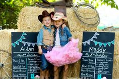 Vintage cowgirl and cowboy party