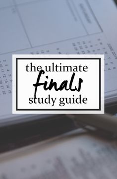 The Ultimate Finals Study Guide for College Students - Get good grades on your exams with these study tips! Freshen up your mind and be productive with this advice.