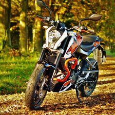 """Gefällt 52 Mal, 3 Kommentare - @timkloe auf Instagram: """"And even more pics #ktm #duke #125ccm #orange #motorcycle #motorrad #herbst #autumn"""""""