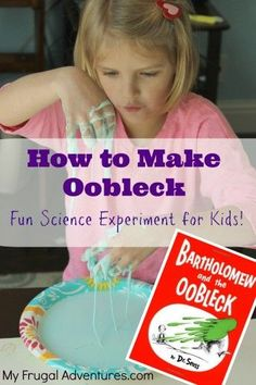 Children's Craft Idea: How to Make Oobleck.  So fun and so easy to make!  Perfect to go along with the #DrSeuss book!  #crafts