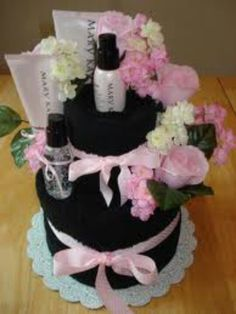 neat idea for a bridal shower gift basket mary kay ash selling mary kay
