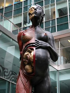 The Virgin Mother. In Lever House courtyard, Damien Hirst.