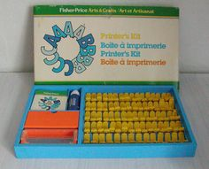 Vintage Fisher Price Printer's Kit