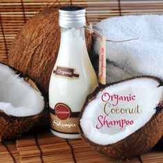 Give your hair a ton of love with our DIY Organic Coconut Shampoo! It is luxurious, moisturizing, simple, and quick to create!