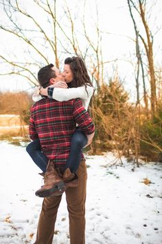 A Rustic Engagement - loving the flannel! so want to do that :)