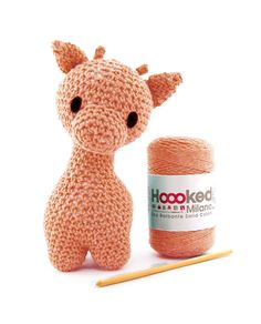 Hoooked Ziggy Giraffe (apricot) amigurumi crochet kit & pattern #crochet #gift #cute #animal #craft