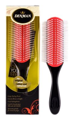 Denman D4 Large Styling Brush With an antistatic rubber pad the Denman Classic Styling Brush Large provides maximum grip and control during blowdrying making it ideal for shaping the hair. With nine rows of nylon pins, this stylin http://www.MightGet.com/january-2017-11/denman-d4-large-styling-brush.asp