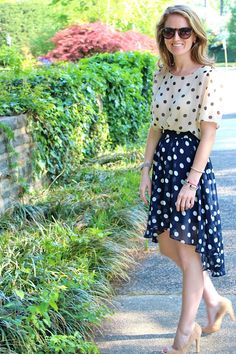 The Peak of Tres Chic: Who, What, Wear, Where: Chic Geek Dual polka dots