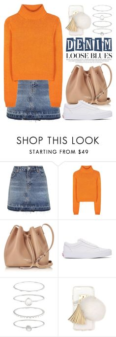 """""""Mini Denim Skirt 2837"""" by boxthoughts ❤ liked on Polyvore featuring Topshop, Acne Studios, Lancaster, Vans, Accessorize and Ashlyn'd"""
