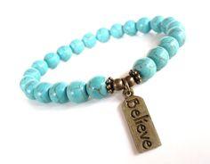 Believe Mala Bracelet Calming Protection by BohemianEarthDesigns, $22.95