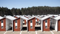 This innovative housing project in Chile was commissioned by a forestry company to support their workers in the process of building the rest of their homes. It's an idea that could spread to other towns if successful.