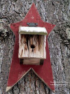 Rustic star birdhouse (Garden of Len & Barb Rosen)