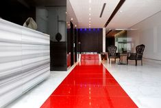 African Pride 15 on Orange by Marriott Hotel Lobby Detail by Source Interior Brand Architecture
