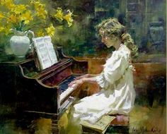 John Michael Carter, 1950 ~ Impressionist Figurative painter
