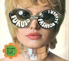 Space Age Futuristic - Pret a Porter Lunettes, Plastique, Monocles, Mode  Rétro, 4b01190864f1