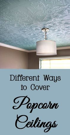 Instead of removing popcorn ceilings, cover them instead.  Here are a few different ways to cover ugly popcorn ceilings - diy, do it yourself, ideas, budget friendly, not remove, easy
