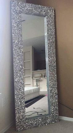 Glamorous Crystal Floor Mirror By Breezyblisshomedecor On Etsy