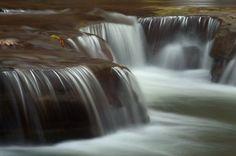 Little waterfalls in Buttermilk Falls State Park Ithaca, New York