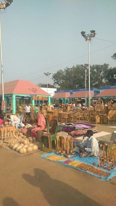 Its a Hand Made tradition fair in India. During Visit.