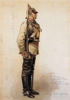 Garde du Corps Kürassier, by Anton von Werner Military Art, Military History, Friedrich Ii, German Helmet, Wilhelm Ii, German Uniforms, Military Uniforms, Figure Sketching, Total War